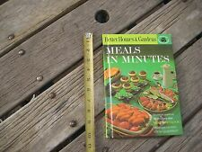 Vintage *** 1963 - MEALS in MINUTES *** Better Homes and Gardens Cookbook