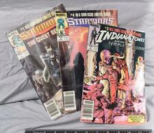 Vintage Lot of 3 Starriors Indiana Jones Original Print Comic ajd