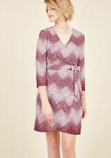 Modcloth XL Transformative Tutorial Wrap Dress stretch novelty print houndstooth