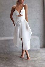 nicholas organza wire white formal cocktail ball midi dress gown xs 6