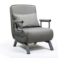 Folding Sofa Bed  5 Position Arm Chair Single Sleeper Bed Chair Recliner Gray