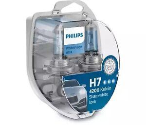 Philips 12972WVUSM - Ultra H7 Globe 12V 55W W/V White Output fits Hyundai i30...