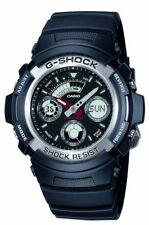 Casio G-Shock AW-590-1AER schwarz Ani-Digi 200m WR Classic mit Weltzeit NEU