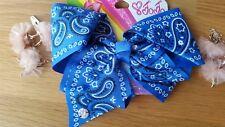 Jojo Siwa Large Hair Bow Blue Bandana Print Delivery