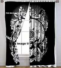 Head Skull Window Hanging Hippie Curtains Drapes Valances Throw Room Divider Art