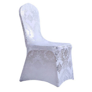Elegant Floral Elastic Chair Cover Removable for Dining Room Banquet Party Use