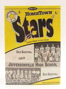 Jeff Red Devils HS Hometown Stars 1998-1999 Season Cereal Box I089
