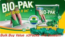 45 Doses Bio-Pak Deodoriser Digester cassette toilet chemical Caravan RV Walex
