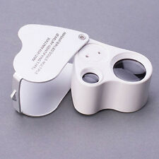 Practical 60X 30X Glass Magnifier Jeweler Eye Jewelry Loupe Loop W/ LED Lights