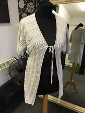 MARIE MERO DESIGNER Waistcoat/Top Tie Front Size UK 10