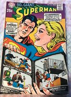 Vintage 1968 DC Comics Superman 80 page Giant Issue January #212