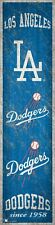 """Los Angeles Dodgers Heritage Banner Retro Logo Wood Sign 6"""" x 24"""" Wall Est 1958"""