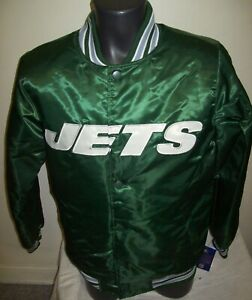 NEW YORK JETS Starter THROWBACK Snap Down Jacket GREEN  SMALL