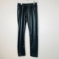 Sakkas Legging Pants Legging Women's Size M Black Faux Leather Wet Look Stretch