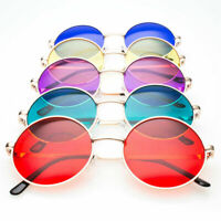 Creative Hippie Style Colorful Round Circle Sunglasses Vintage Glasses Eyewear