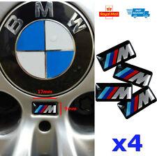 4x Small M SPORT POWER 3D WHEEL ALLOY Badge 17x9mm 1 2 3 4 Series X5 X6 M3 M4