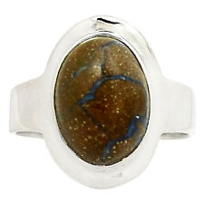 Boulder Opal 925 Sterling Silver Ring Jewelry s.9 SR191637