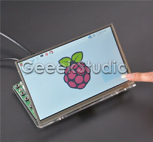 Raspberry Pi4 7inch 1024*600 LCD Touch Screen + Driver Board and Acrylic Bracket