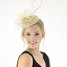JENDI Champagne Nude Cream Formal Spring Racing Fascinator Headband 4 Oaks Day