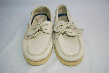 Sperry Top Sider Men's Ivory Leather Boat Shoes Size 8.5 M