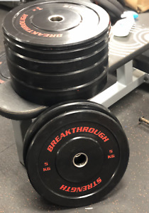 60kg  Red  olympic bumper weights plates Breakthrough strength  - NEW UK STOCK