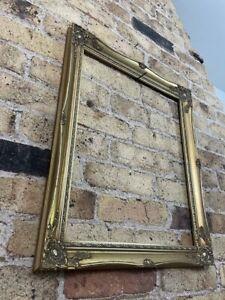 Vintage Rococo Baroque Gold Gilt, Gesso Detail Picture Frame Medium - Large