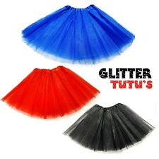 GLITTER SPARKLE TUTU BLUE PINK RED DANCE FANCY DRESS BALLET COSTUME ACCESSORY
