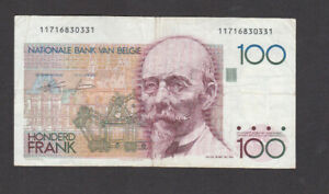 100 FRANCS VERY FINE BANKNOTE FROM BELGIUM 1978-81 PICK-140