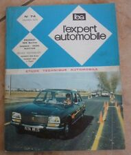 revue technique l'expert automobile N°74 PEUGEOT 504 BERLINE ESSENCE DIESEL INJ