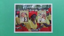NIGER BF Bloc Feuillet 1500f x2 Pape jean-paul II en afrique MNH neuf