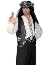 Pirate Black Set Buccaneer Adult Mens Smiffys Fancy Dress Costume Accessory