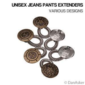 6 pcs Unisex Jeans Pants Fix Expanders Maternity Waist Extender Metal Button