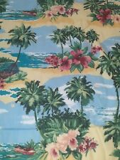 Vintage Dan River Twin Comforter Aloha Hawaiian Hibiscus Tropical BEAUTIFUL !!!