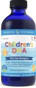 Nordic Naturals Children's DHA Liquid - Strawberry Flavored Fish Oil, 8 Ounces