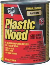 NEW DAP 21506 16 OZ CAN NATURAL PLASTIC WOOD FILLER PUTTY 6368484