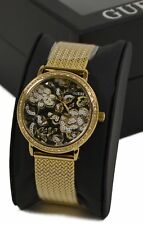 Guess Ladies 'WILLOW' Watch W0822L2 - Yellow Gold Plate with Crystal Surround