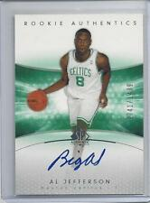 "AL JEFFERSON 2005 SP AUTHENTIC ""BIG AL"" INSCRIPTION ON CARD AUTO RC #D 741/1499"