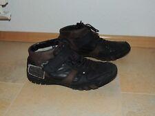 Bugatti Herren Winter Schuhe mit Fell gefüttert Gr. 40 6,5 Schnürsenkel + Klett
