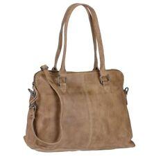 Bear Design Handtasche Leder taupe Damen (Callisto Pelle) Schultertasche