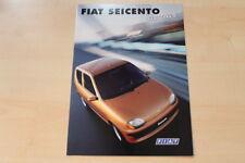 75524) Fiat Seicento Hobby Prospekt 01/1999
