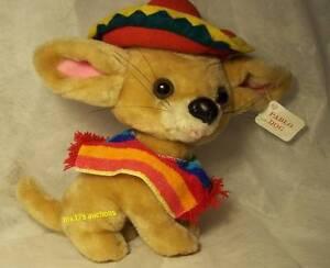 PABLO PLUSH CHIHUAHUA DOG w/ SERAPE, PONCHO, SOMBRERO Goffa International Corp.