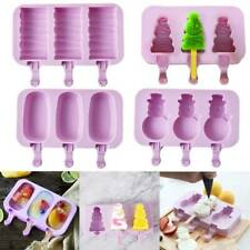 3 Cell Ice Lolly Cream Maker Mold DIY Popsicle Mould Frozen Yogurt Icebox UK New