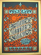 2013 DAVE MATTHEWS BAND NEW ORLEANS JAZZ FEST GATE CONCERT POSTER 4/28 S/N BONUS