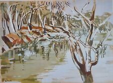 The Darling River at Bourke, by Ada Clark of Millthorpe,