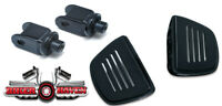 Kuryakyn Front Gloss Black Mini Floor Board& Adapter KIT Honda 750 Shadow RS