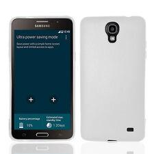 FOR SAMSUNG Galaxy Mega 2 II CLEAR WHITE TPU SKIN COVER CASE + SCREEN PROTECTOR