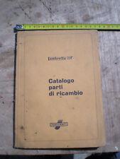 LAMBRETTA 125 F CATALOGO RICAMBI INNOCENTI SCOOTER SPARES EPOCA VESPA 1954