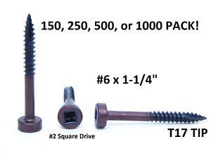 150, 250, 500, 1000! #6 X 1-1/4 PAN FINE THREAD FACE FRAME POCKET HOLE SCREWS NC