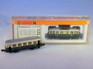 N Scale Arnold 2963/2973 2nd & 3rd Class Rail Bus & 3rd Class Coach Car