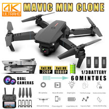 Faltbar WIFI FPV Drohne mit 4K Kamera Selfie Quadrocopter RC Drone+3 Batterien-